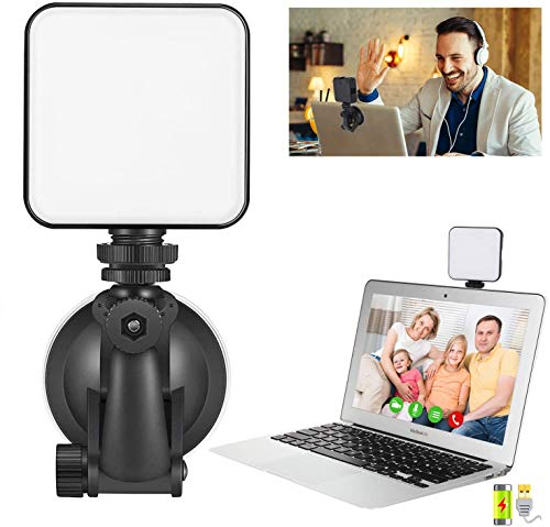 Video Conference Lighting Kit, ATKAN Light for Video Conferencing, Broadcast Lighting Kit for Video Conferencing, Remote Working, Zoom Calls, Microsoft Teams, Live Streaming Black