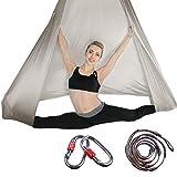 Brinny Toalla de yoga aérea, de seda prémium, para equipamiento aéreo, para hacer manualidades, elástica, para yoga, hamaca, ejercicios de inversión