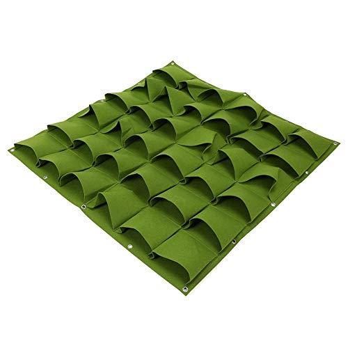 Zakken voor planten, 36 zakken Buiten Verticale vergroening Bloem Hangende muur Tuinplant Kweekviltzakken, Verticale vergroening Kweektassen 2 kleuren(Zwart)
