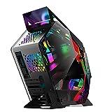 Xiaolizi Caja de Juegos de computadora ATX Computadora de Escritorio en Forma Especial Soporte mainframe Support M-ATX/ITX Placa Base para PC Gamer Claverse