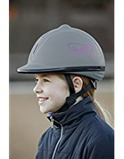 Covalliero Reithelm Beauty VG1, Grau, Größe 53-57 Casco de equitación, Infantil, Gris