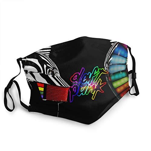 Daft-Punk Multifunktionstuch Waschbar Halb Bandana Weich Mundtuch Atmungsaktiv Mundbedeckung Anti-Staub Staubdichte für Außenbereich