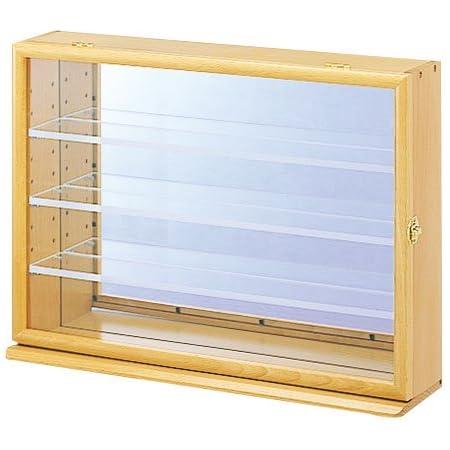 ナカバヤシ コレクションケース ワイド 透明アクリル棚板タイプ ナチュラル木目 W470xD120xH345mm CCM-202-NM ディスプレイケース
