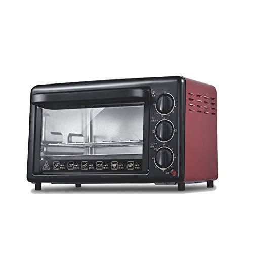 20L elektrischer Multifunktionsofen, Ofen, Haushalt/Pizza/Brotmaschine/Pizzaofen, 1200W-red