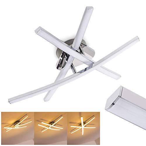 Lampada da soffitto LED Design Moderno- Luce bianco caldo ideale come Plafoniera Soggiorno- Plafoniera LED Barre Luminose mobili