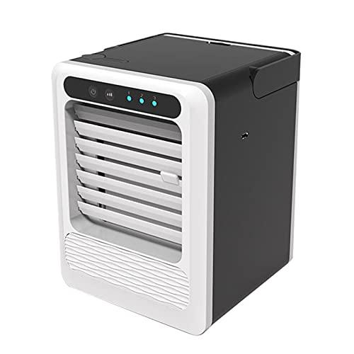 XHMJ Mini acondicionador de Aire, Material ABS, Ajuste de la Velocidad del Viento de Tres Niveles, Fuente de alimentación USB de bajo Nivel de Ruido, Adecuado para dormit Black