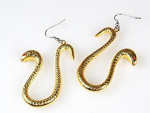 『ボア ハンコック風のコスプレ用 ピアス 蛇イヤリング』の1枚目の画像