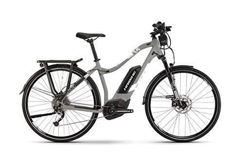 HAIBIKE Sduro Trekking 3.5 Damen Pedelec E-Bike Fahrrad grau/weiß 2019: Größe: L
