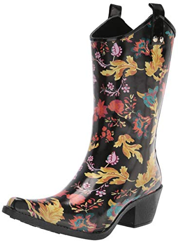 Nomad Women's Yippy Rain Boot, Fall Flourish, 9 Medium US