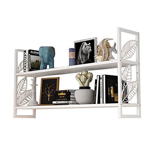 Zwevende plank Wandplank IJzeren Kunst Wit 2 Laag Amerikaanse Muur Decoratie Slaapkamer Woonkamer Muur Ophangplank