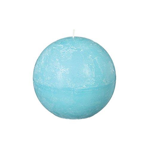 Bougie boule Rustic - Diam. 12 cm - Bleu