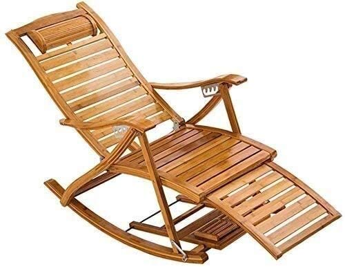 OESFL Patio Lounger Chair Cool Chair,Zero Gravity Outdoor Chair,Portable Rocking Chair,Arm Chair Single Padded,with Foot Massage Wheel,Sun Lounger