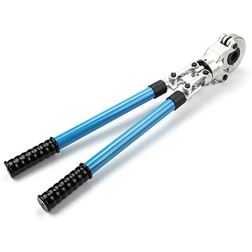 AllRight Presszange V-Kontur Rohrpresszange 15-18-22-28 mm Pressbacken 360° für Kupferrohr Verbundrohr Wasserleitung Kunststoff