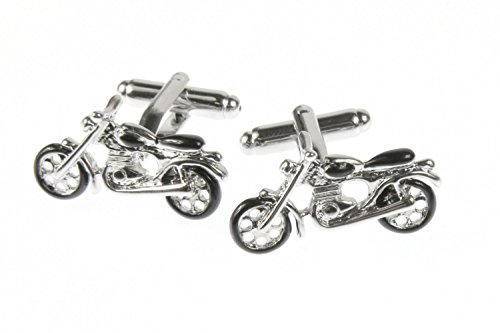 Miniblings Motorrad Manschettenknöpfe Knöpfe + Box Bike Biker Kraftrad Tourer