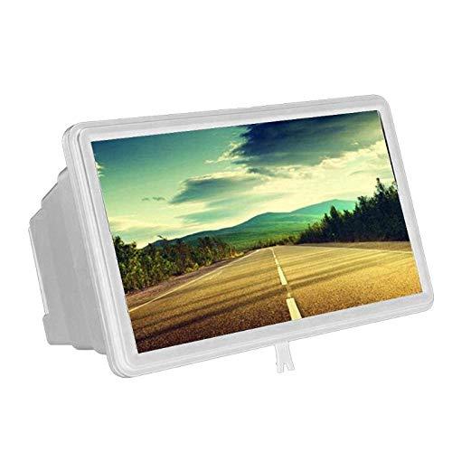 HONYGE LXGANG 3D Pantalla del teléfono móvil Lupa amplificadora HD Soporte de la película 1.5X Smartphone Amplificador de Escritorio de Instrumentos ópticos Flexibles (Color : White)
