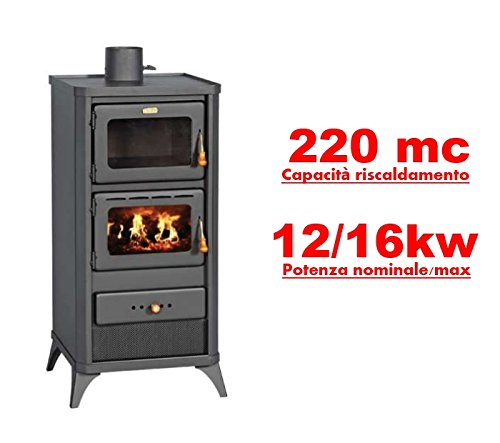 Stufa a legna/Termocamino con forno 12/16 Kw - Mod. Lift