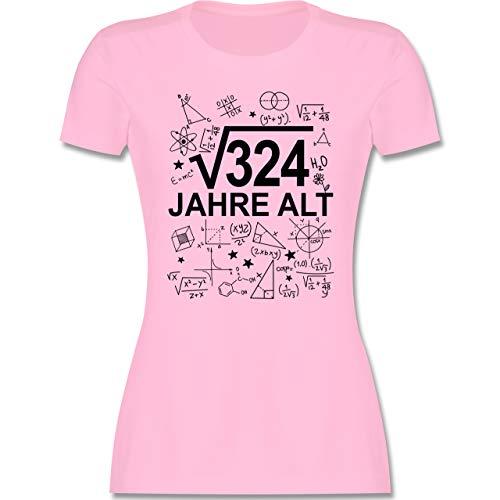 Geburtstag - (Wurzel 324) 18 Jahre alt - schwarz - S - Rosa - Mathematik - L191 - Tailliertes Tshirt für Damen und Frauen T-Shirt