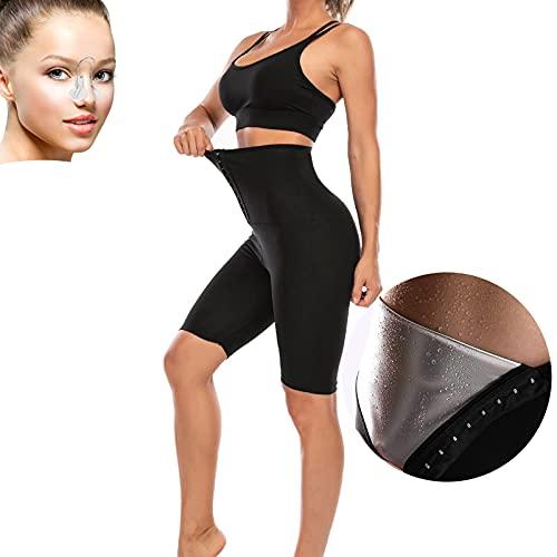 KUMADAI Fajas Reductoras Adelgazantes, Leggings Push Up Mujer Deporte Quema Grasas Traje Sauna Mallas Fitness Leggins Anticeluliticos Cintura Alta,Negro,XXL/3XL