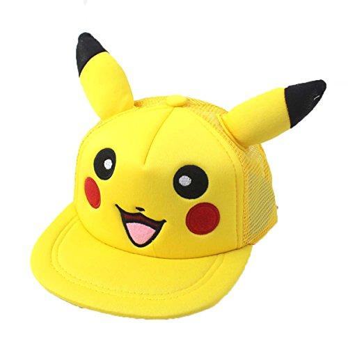 Topfly® Gorra de béisbol de Pikachu con dibujos animados para padres y bebés