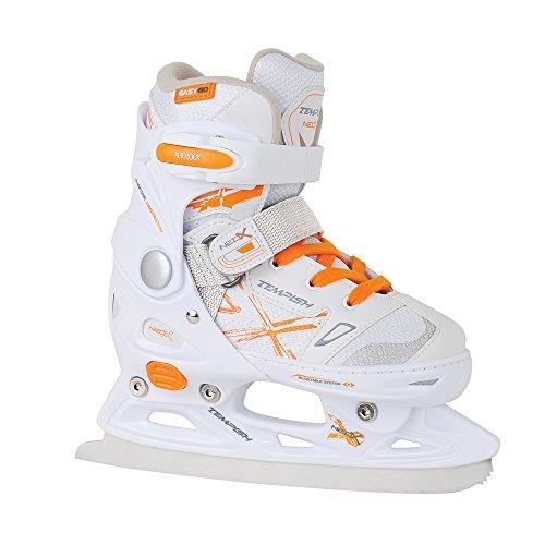 Unbekannt Tempish NEO-X Ice Girl Größenverstellbare Eishockey-Schlittschuhe Für Mädchen/Damen, Weiß, White, 33-36