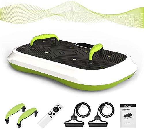 MVPower Pedana Vibrante con Altoparlanti Bluetooth, Pedana Vibrante Silenzioso 5 Programmi, 120 livelli velocità, e LCD display, Telecomando, Portata 180 Kg
