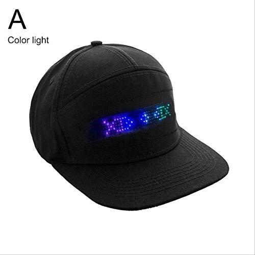 Yaheihei Bluetooth LED Sombrero Desplazamiento programable
