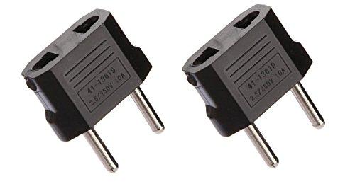 Set de 2 adaptadores de toma eléctrica EE.UU./China a conexión europea Francia