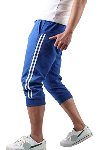Hooleeger 3/4 Sporthose Herren Kurz Jogginghose Trainingshose Capri Hose Sommer Jogger