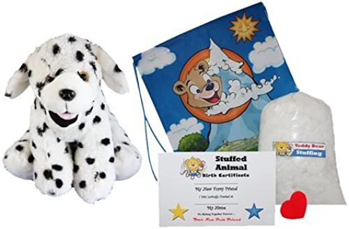 Venta al por mayor barato y de alta calidad. Make Your Own Stuffed Animal Animal Animal Domino the Dalmation -No Sew-Kit With Cute Backpack  by Stuffems Toy Shop  a la venta