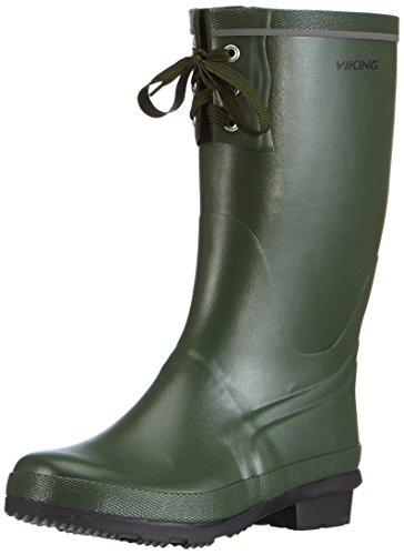 viking Full KLAFF, Unisex-Erwachsene Gummistiefel, Grün (Green), 36 EU (3.5 UK)