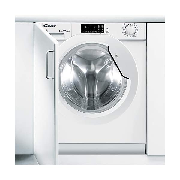 Candy – CBWD-8514D – Lavasecadora Integración – 8KGS + 5KGS – 1400RPM – Display Digital – Clase AAA – Color Blanco