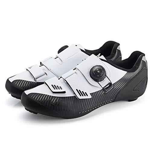 GUARDUU Zapatillas Ciclismo Carretera para Hombre Zapatillas MBT Resistentes Al Desgaste Duraderas Zapatillas De Bicicleta Ligeras con Sistema De Bloqueo Rápido,C,45(US:12)