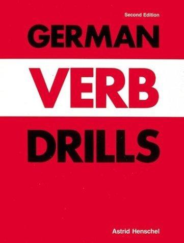 German Verb Drills (Language - German) by Richard de Roussy de Sales (1998-01-03)