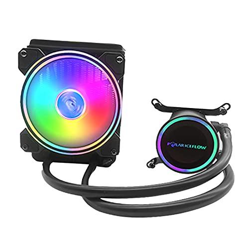 TISHITA Ventilador RGB CPU Liquid Cooler de 120 Mm para LGA