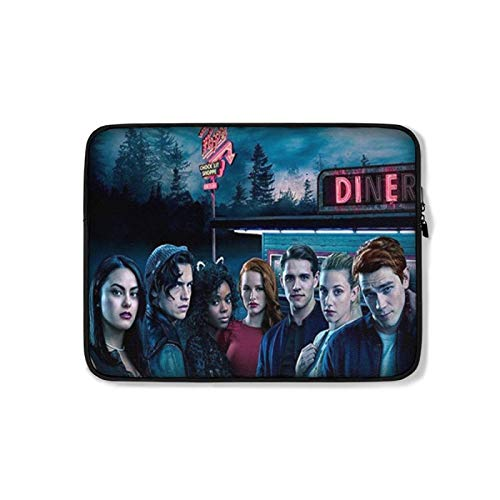 River-Dale Laptop Sleeve, Notebook Computer Plush Inner Liner Bag, Padded Computer Case with Zip Close and Clip-in Storage Pouch for Accessories