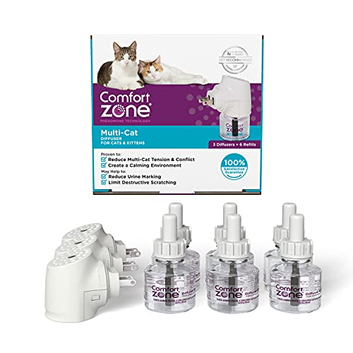 3 Diffusers Plus 6 Refills | Comfort Zone Multi-Cat Calming Kit (Value Pack) for a Peaceful Home |...