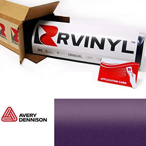 "Avery SW900 565-M Matte Metallic Purple Supreme Wrapping Film Vinyl Vehicle Car Wrap Sheet Roll - (12"" x 60"" w/Application Card)"