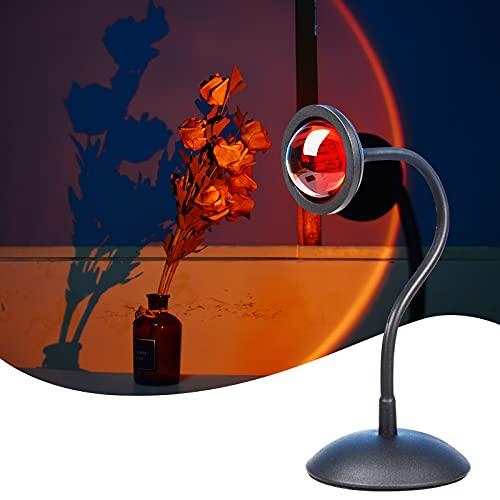 Sunset Lamp, Sunset Projection Lamp, Luz Nocturna USB LED, Lámpara de Pie Salón, Lámpara Decorativa, SE Puede Girar 360°,...