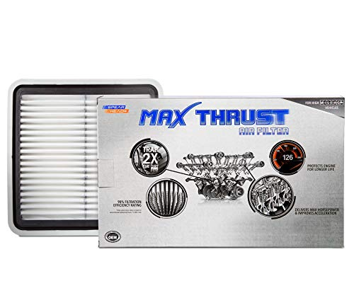 Spearhead Max Thrust Performance Engine Air Filter For All Mileage Vehicles - Increases Power & Improves Acceleration (MT-997)