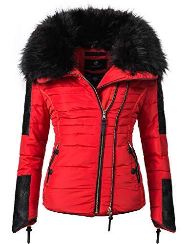 Navahoo Damen Jacke Winterjacke Steppjacke Yuki2 Red Gr. XS