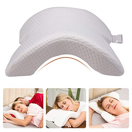 CCidea Neck Pillow for Sleeping Memory Foam Pillow, No Pressure - Side Sleeping, Office Rest Pillow, Sofa Casual Reading Pillows(1 Pack)