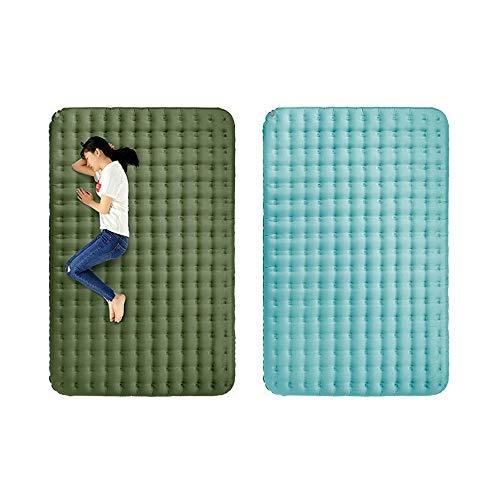PQXOER Colchoneta Camping 40D Nylon TPU Inflable for Dormir cojín Impermeable al Aire Libre Camping Doble Ropa de Cama de Picnic Mats Esterilla Acampada (Color : Green, Size : 250x135x13cm)