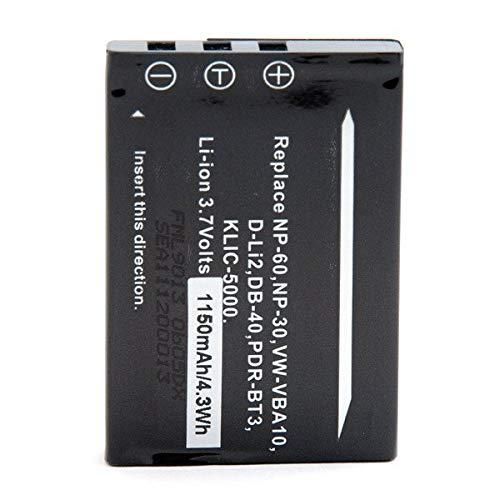 NX - Batería cámara de fotos y cámara de video 3.7V 1100mAh - NP-60 ; KLIC-5000