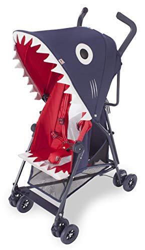Maclaren Shark Buggy – Superleicht, kompakt, leicht zu lenken. Einhändig zusammenklappbar, erweitertes Sonnenverdeck, 5-Punkte-Gurtsystem, verstellbarer Sitz, 4-Rad-Federung. Zubehör in der Box