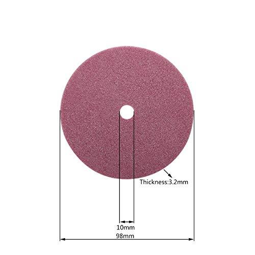 Calidad superior Sacapuntas de motosierra eléctrica Rueda de molienda de diamante 98/105/135mm Espesor 3.2/4.5mm Borde cortador y pulido de cadena de pulido para eliminar óxido, desbarbado,