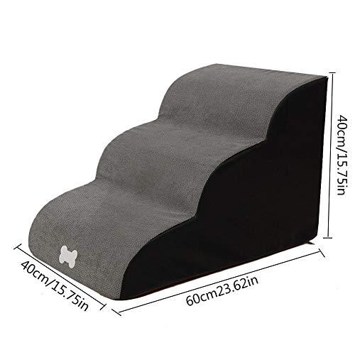 Pootong Escaliers pour Chiens Rampe pour Animaux de Compagnie échelle pour Animaux de Compagnie échelle d'escaliers pour Animaux de Compagnie échelle pour Chiens et Chats Bandes de roulement de Tapis