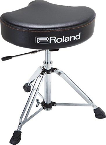 Roland Drum-Hocker-Sattel mit strapazierfähigem Vinyl-Sitz und hydraulischer Höhenanpassung – RDT-SHV