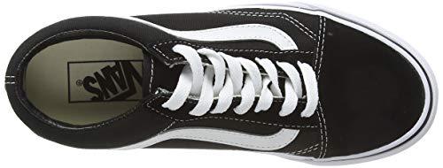 Vans Unisex Adults Old Skool Classic Suede/Canvas Sneakers, Black (Black/White), 9 UK (43 EU)
