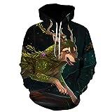 yyqx container Zhang Horned Wolf suéter con Capucha para Hombre Chaqueta con Capucha suéter con Estampado de Dibujos Animados suéter Deportivo con Capucha-Color_XXL