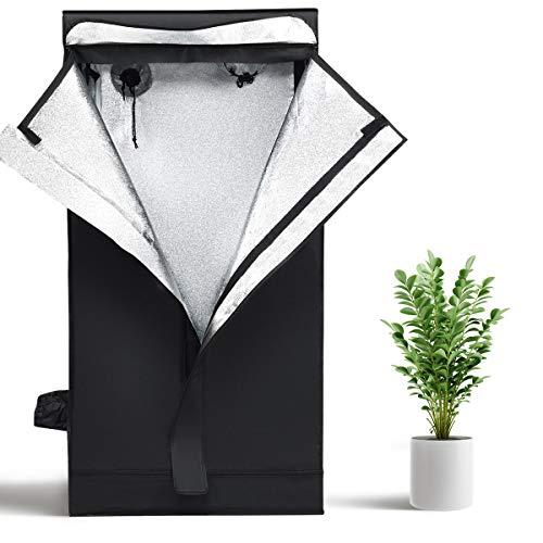 GOPLUS Chambre de Culture Intérieur, Tente de Culture Hydroponique Indoor en Tissu Oxford, Grow Box avec Ouverture Zippée, Résistante à l'Eau, pour Légumes, Fruits, Plantes, Fleurs (60 x 60 x 120 cm)